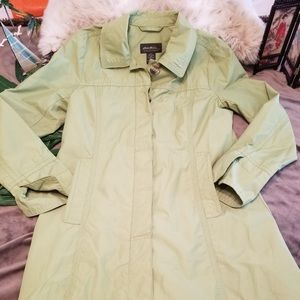 EUC Eddie Bauer Mint Green Fully Lined Raincoat Sm